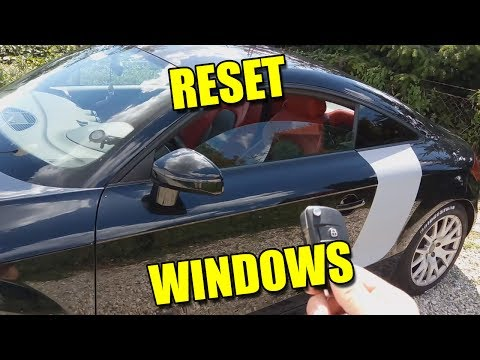 How to Reset Windows Not Sealing Fix Automatic Movement Audi TT VW