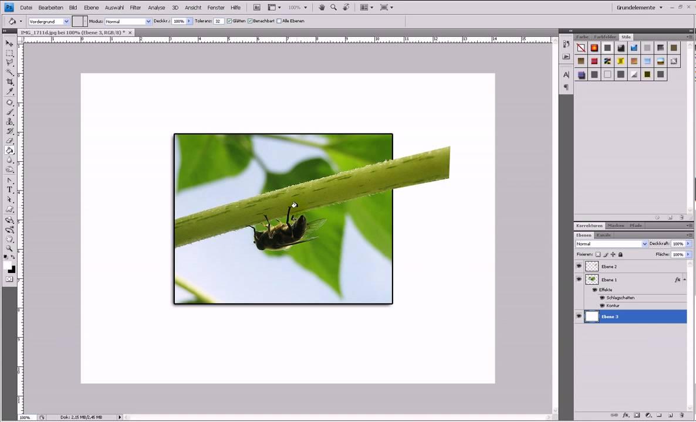 2D-Bild mit 3D-Effekt (Out Of Bounds) – Photoshop-Tutorial - YouTube