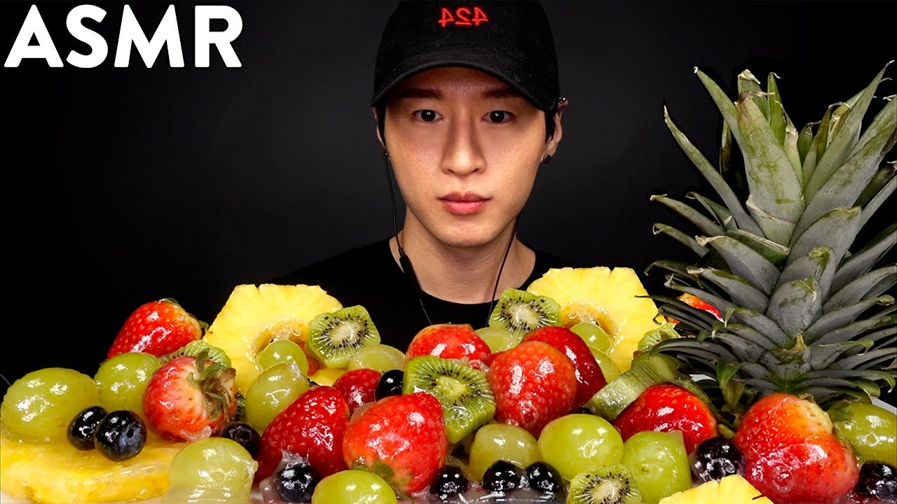 Asmr Candied Fruit Tanghulu Mukbang No Talking Ice Cracking Eating Sounds Zach Choi Asmr