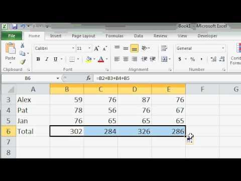 Microsoft Excel 2010 AutoFill Lesson - YouTube