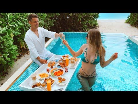 Мальдивы Райский Завтрак На Воде. Сюрприз Для Мужа. Ночное Ныряние