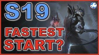 Which class has the fastest start Season 19 Diablo 3 (Patch 2.6.7)