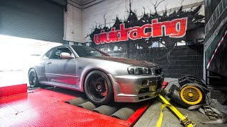 R34 Nissan Skyline Dyno Run