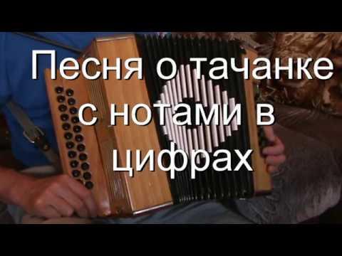 Песня о тачанке с нотами в цифрах
