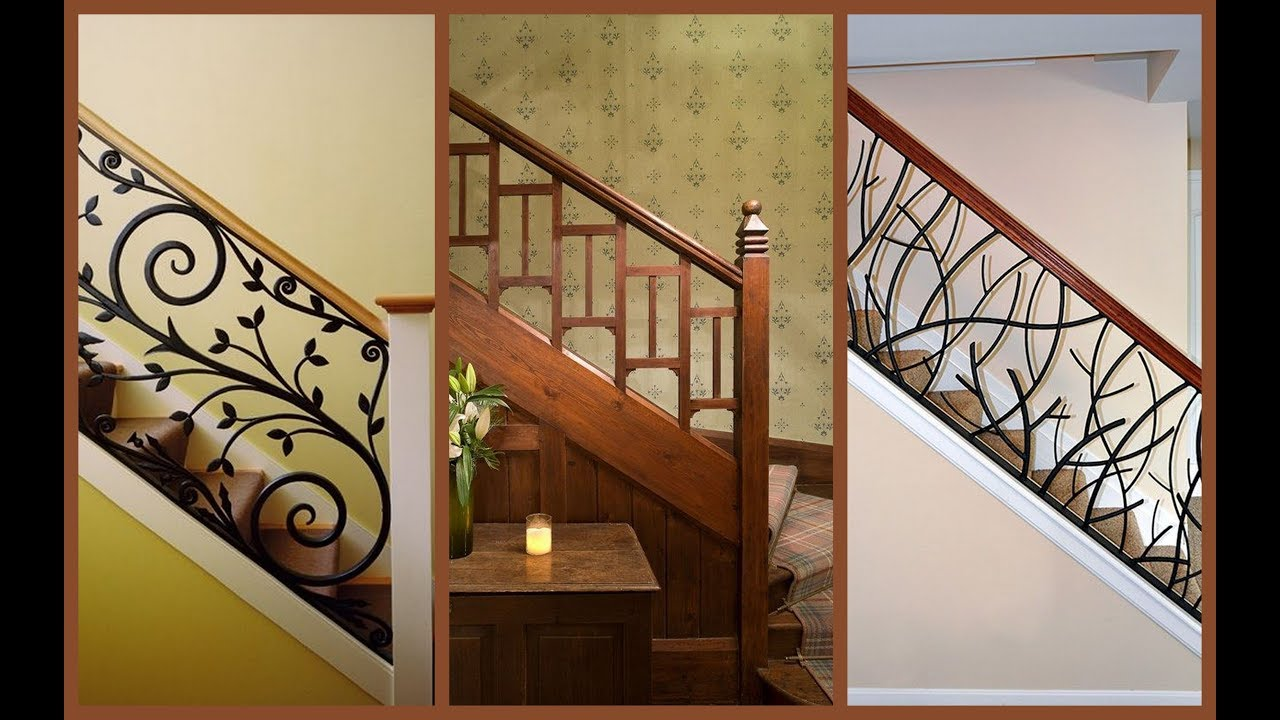 33 Beautiful Modern Railing Designs For Staircase And | Internal Staircase Railing Designs