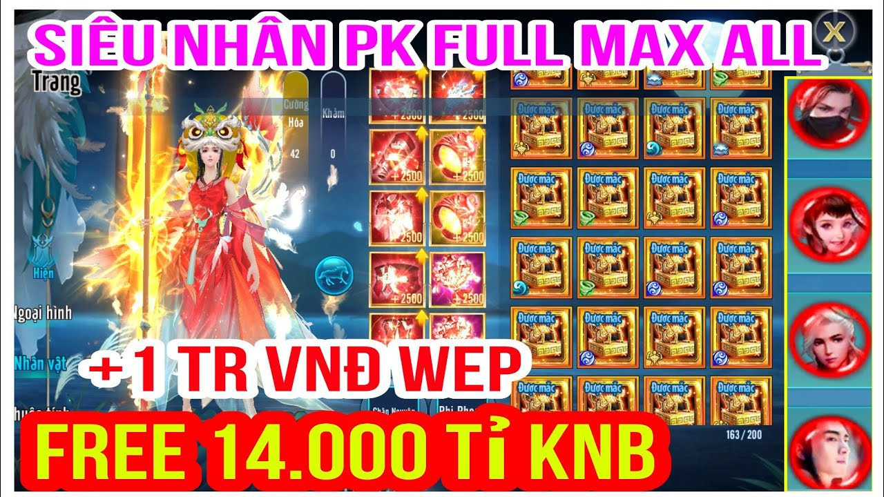 VLTK Mobile Lậu 21 Phái Mới – Free 14 Nghìn Tỷ Knb + 1Tr VNĐ Wep & Full Max Đồ Võ Lâm Siêu PK