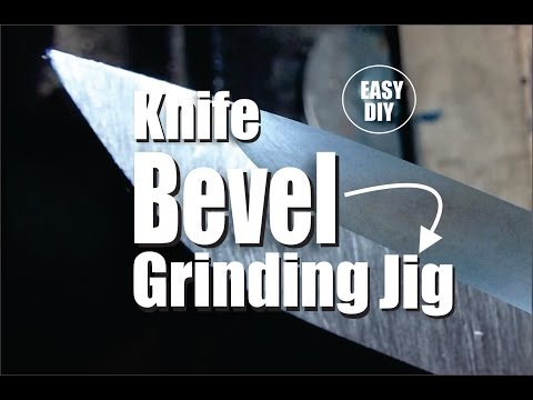 DIY Easy Knife Bevel Grinding Jig