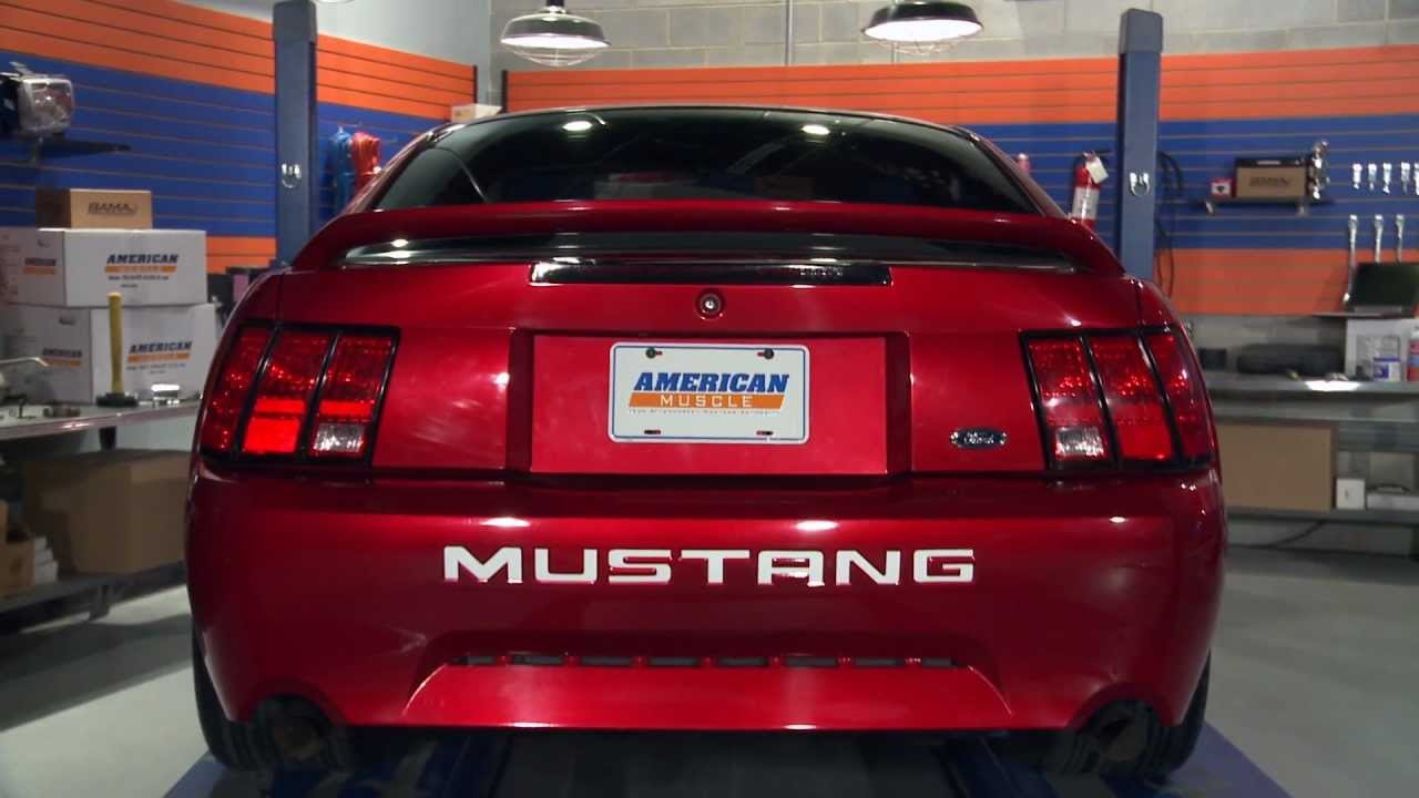 mustang vinyl bumper insert letters 99 04 review youtube