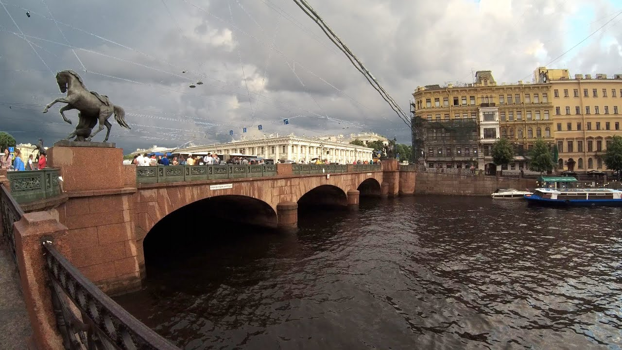 аничков мост ход строительства фото капитан разлив познакомиться главными достопримечательностями