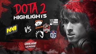 NAVI Dota2 highlights vs Empire, Liquid, MoF, VP, OG @ DreamLeague S8 CIS Qualifier