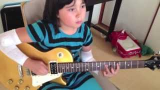 Audrey (9 years old) playing guitar - Whipping Post - The Allman Br...