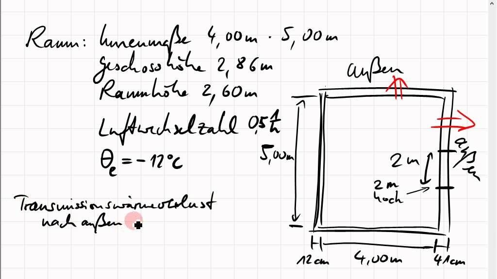 heizlast beispielrechnung - Heizlastberechnung Beispiel