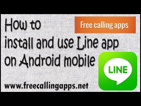 How to download and use line app on android mobile.
