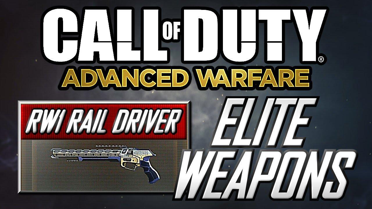 Advanced Warfare Elite Weapons Guide Rw1 Rail Driver