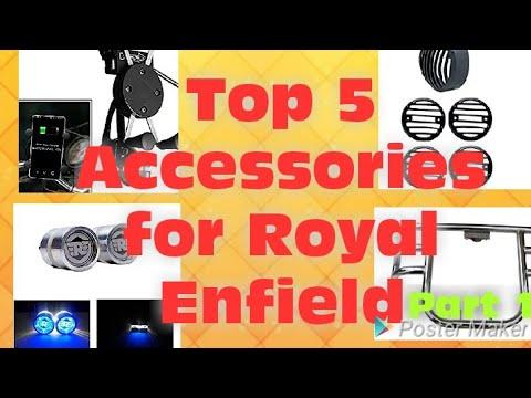 5 most important Accessories for Royal enfield gunmetal रॉयल एनफील्ड के लिए 5 सबसे जरुरी ऐसे सीरीज.