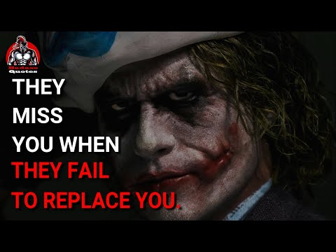 Joker Powerful Quotes || Motivational Quotes | They Miss You When They Fail | Badass Quotes