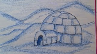 How to draw a igloo