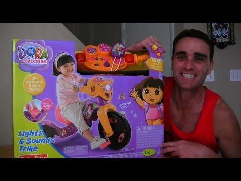 Dora's Lights & Sounds Tricycle Unboxing! || Dora The Explorer Toys Review || Konas2002