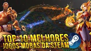 TOP 10 MELHORES JOĠOS MOBAS PARA PC STEAM 2020!