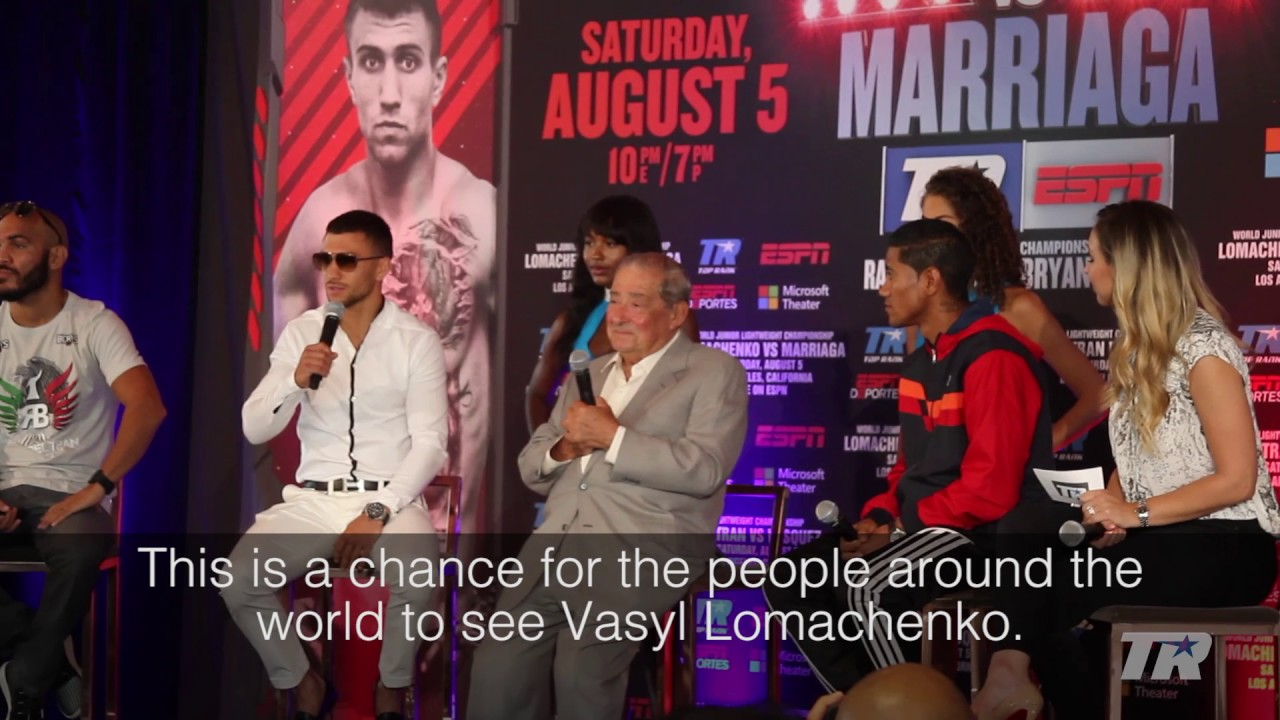 Lomachenko vs. Marriaga Official Fight Announcement