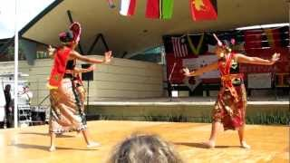 Tamara & Tiara performing the Yapong dance