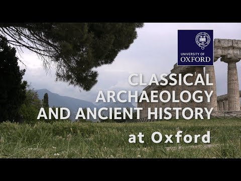Classical Archaeology and Ancient History at Oxford University
