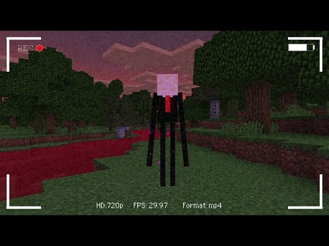 I FOUND The Slenderman in Minecraft Pocket Edition! (Blood Evening Map)