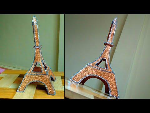 DIY Craft - Eiffel tower,Paris | Paper craft |Tutorial | By Punekar Sneha.