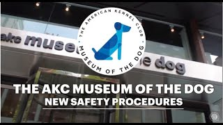 NEW SAFETY PROCEDURES AT THE AKC MUSEUM OF DOG
