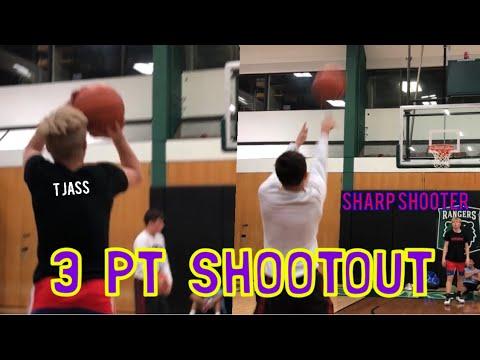 3 PT SHOOTOUT vs SHARP SHOOTER!