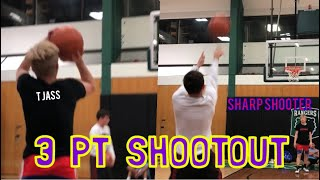3 PT SHOOTOUT vs SHARP SHOOTER!