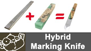 Make a Marking Knife with High Speed Steel & Hybrid Scales