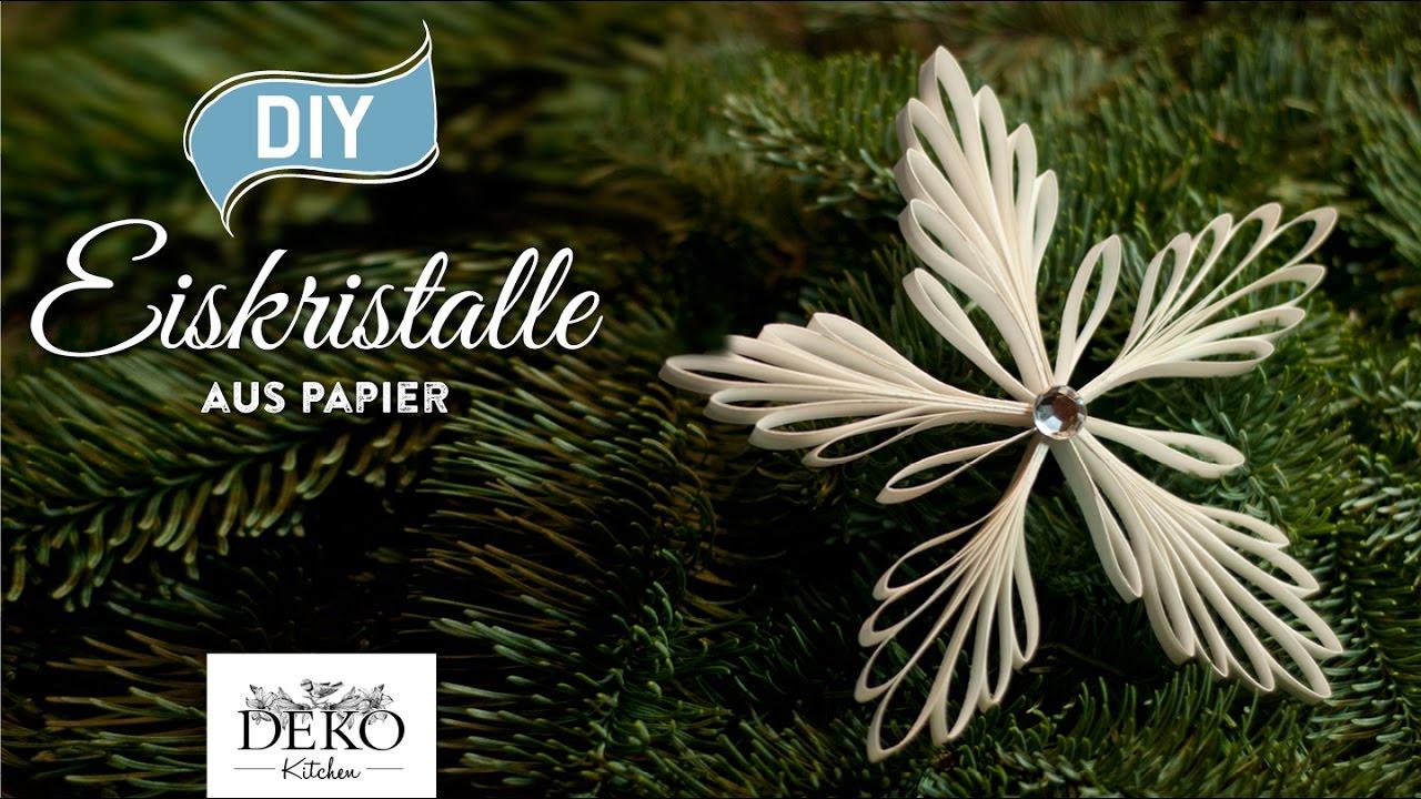 Sympathisch Weihnachtsdeko Aus Papier Galerie Von Diy: Mit Eiskristall-anhängern [how To] Deko Kitchen