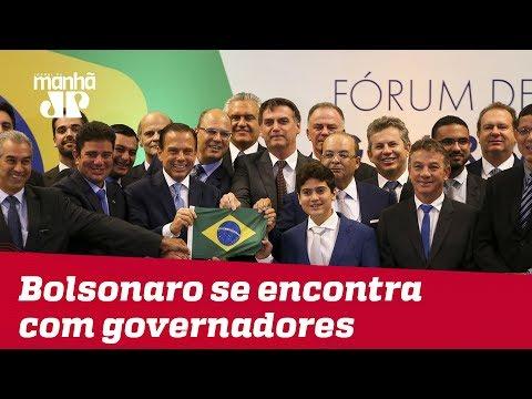 Bolsonaro se encontra com governadores eleitos e defende reformas constitucionais