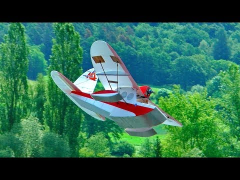 "RC SEAPLANE ""THE DUCK"" SUPER LIGHTWEIGHT DEPRON FOAM MODEL FLIGHT DEMONSTRATION"