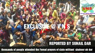 Thousands attend funeral prayers of slain LeT militant shakoor Dar