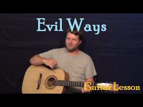 Evil Ways (Santana) Easy Guitar Lesson How to Play Tutorial