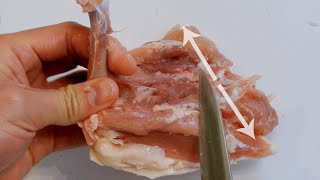 """Easy way to debone and fillet a chicken thigh - a """"how-to"""" tutorial"""