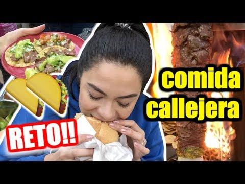UN DÍA COMIENDO SÓLO COMIDA CALLEJERA EN MÉXICO | MARIEBELLE TV
