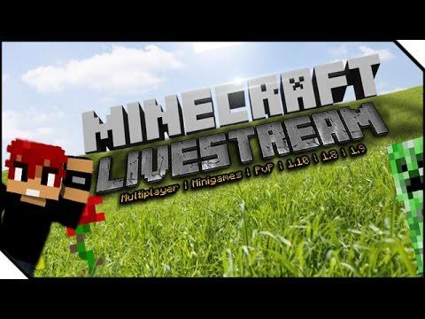 MINECRAFT COMMUNITY LIVESTREAM WIR SPIELEN GEMEINSAM MINIGAMES - Minecraft gemeinsam spielen