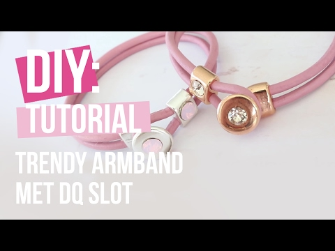 Sieraden maken: Trendy armband met DQ slot ♡ DIY