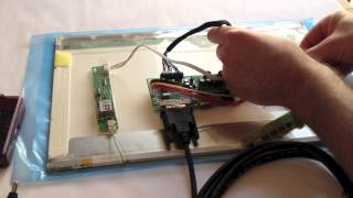 How to Connect Raspberry Pi to a Laptop LCD Panel via LVDS/LCD Controller Board