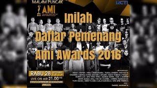 INILAH DAFTAR LENGKAP PEMENANG AMI AWARDS 2106