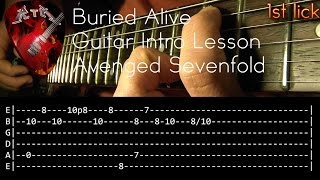 Gambar cover Buried Alive Guitar Intro Lesson - Avenged Sevenfold (with tabs)