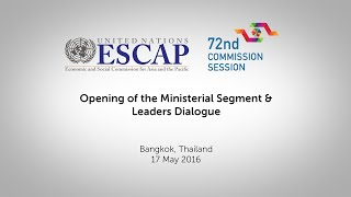 CS72: Opening of the Ministerial Segment & High-Level Dialogue