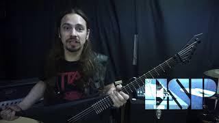 ESP LTD Arrow Black Metal Featuring Pat Shea (Master/Titan)