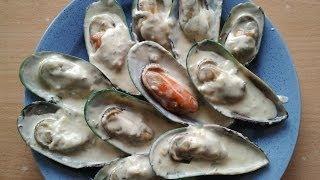 """Мидии в сырном соусе """"Дружная компания"""" (Mussels with cheese sauce)"""