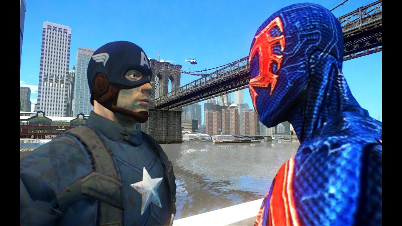 spiderman 2099 vs captain america youtube