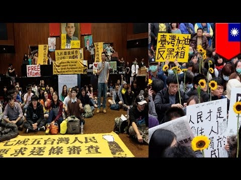 Taiwan China trade conflict: A song for students sit-in legislature