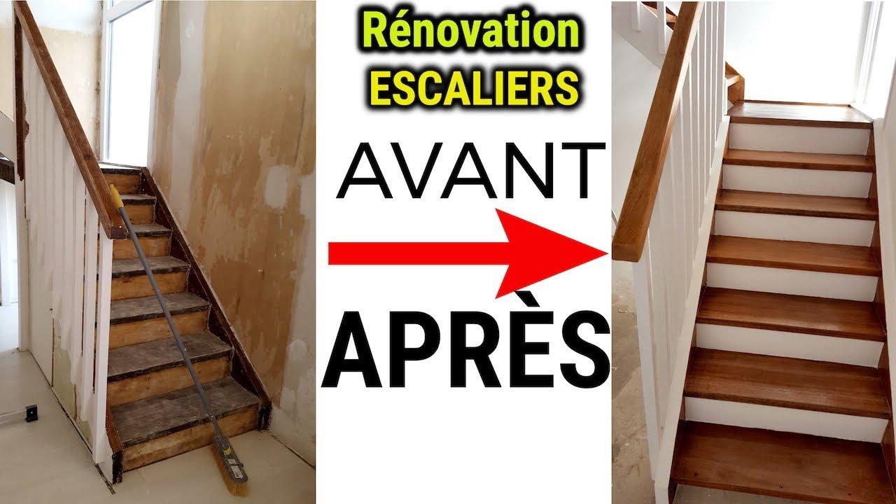 avant apres renovation escaliers